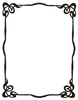 Art Nouveau Ink Picture Frame By Enchantedgal Stock Image