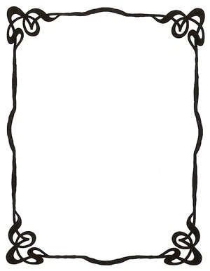 Art Nouveau Ink Picture Frame By Enchantedgal Stock image - vector