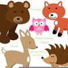 Forest Animals Clipart Image