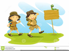 Cub Scout Hike Clipart Image
