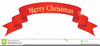 Free Clipart Merry Christmas Banner Image