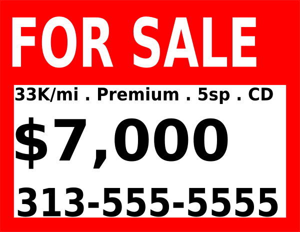 Doc700700 House for Sale Sign Template Doc500500 House for – For Sale Template Free