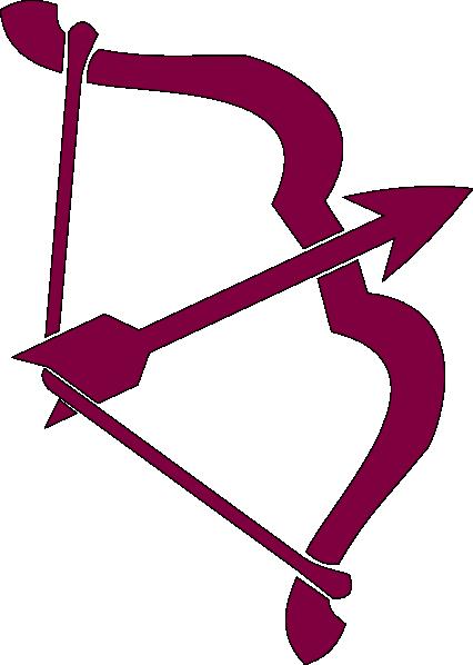 purple bow and arrow clip art at clker com vector clip art online rh clker com bow and arrow clip art free bow and arrow clipart png
