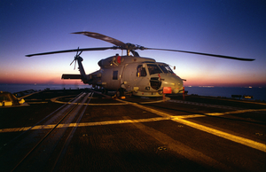 Sh-60 On Flight Deck Image