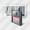 Icon Bar Code Save Image