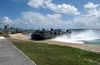 A Landing Craft, Air Cushioned (lcac) Deployed Aboard The Amphibious Assault Ship Uss Essex (lhd 2). Image