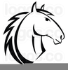 Horse Head Outline Clipart Image
