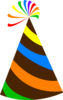 Rainbow Party Hat Chocolate Brown Clip Art