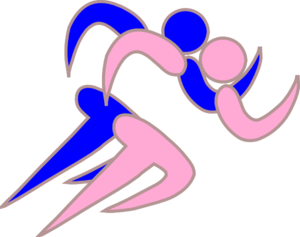 Girl And Boy Runners Version 3 Clip Art