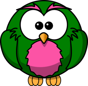 Khaki And Pink Hoot  Clip Art