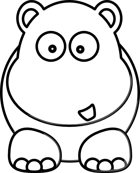 white hippo clip art at clker com