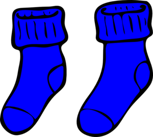 Blue Socks Clip Art at Clker.com - vector clip art online, royalty ...