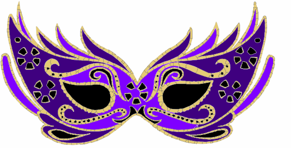 purple masquerade mask clip art at clker com vector clip art rh clker com masquerade clipart black and white masquerade clip art images