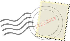 Postage Stamp-simple Clip Art