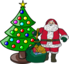 Christmas Tree With Santa Claus Clip Art