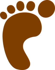 Brown Foot Clip Art
