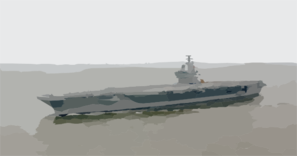 Uss Ronald Reagan (cvn 76) Steams Through The Atlantic Ocean For The First Time As A Commissioned Ship Clip Art