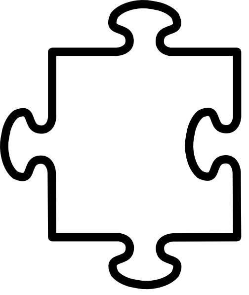 Jigsaw white puzzel piece clip art at vector for Large blank puzzle pieces template
