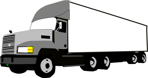 truck clip art at clker com vector clip art online blue semi truck clipart Semi- Trailer Cartoon