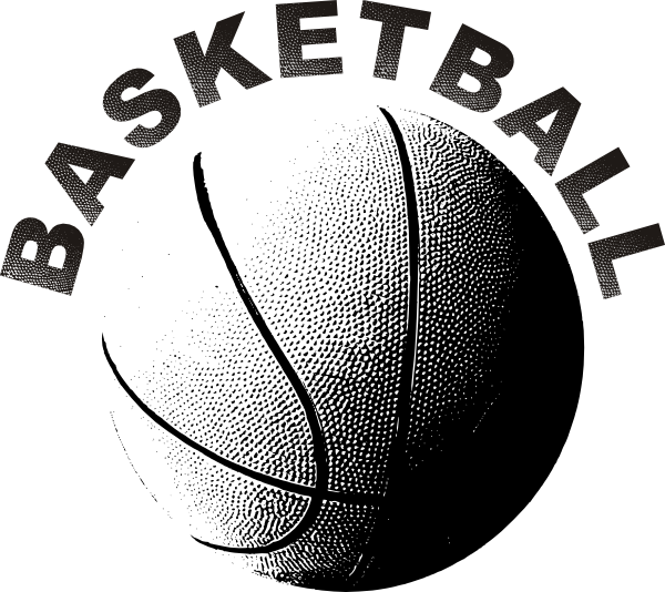 Clip Art Basket Black And White : Basketball clip art at clker vector