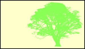 Tree, Green, Silhouette, Yellow Background Clip Art