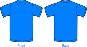 Plain Sky Blue Shirt Clip Art