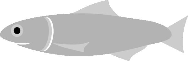 Silvery Fish Clip Art