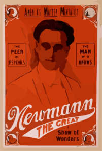 America S Master Mentalist, Newmann The Great And His Show Of Wonders Clip Art