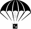 An Illustration With Parachute Percent Clip Art