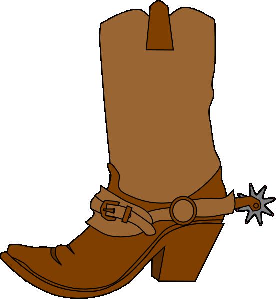 cowboy boot clip art at clker com vector clip art online royalty rh clker com cowboy boots clipart free western boots clipart