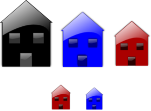 Glossy Homes Clip Art