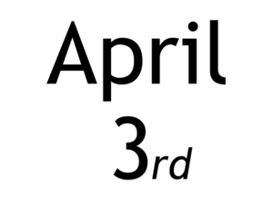 April 3rd Calendar Thing Clip Art
