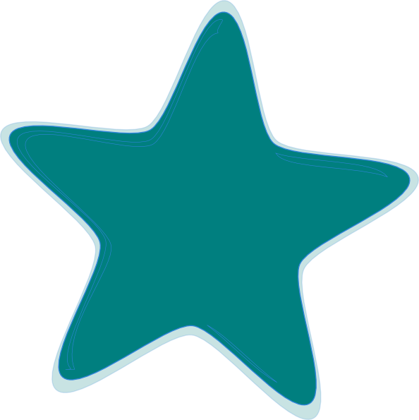 Teal Star Clip Art at Clker.com - vector clip art online, royalty free ...
