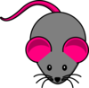 Pink Gray Mouse Clip Art