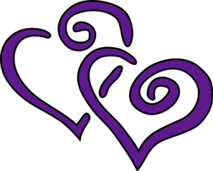 Purple Hearts Clip Art