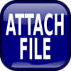 Blue Attach File Square Button Clip Art