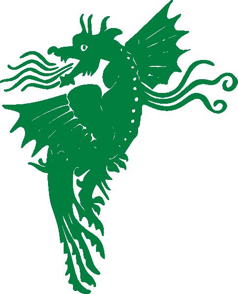 Flying Green Dragon Clip Art at Clker.com - vector clip ...