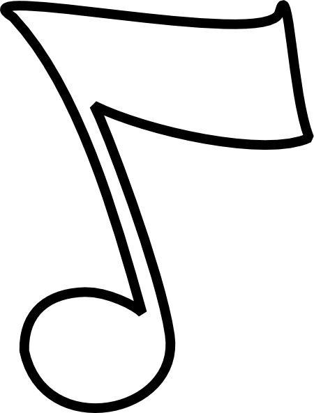Line Art Notes : Musical note b and w clip art at clker vector
