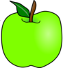Green Delicious Apple Clip Art