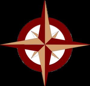 Red Compass Rose Clip Art at Clker.com - vector clip art online ...