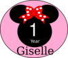 Mouse One Year Giselle Clip Art