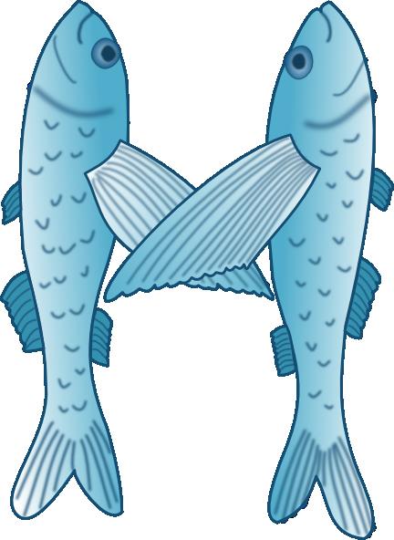 letter art m. Fish Forming Letter M clip art