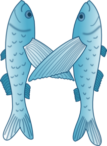 Fish Forming Letter M Clip Art
