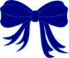 Blue Bow Ribbon Clip Art