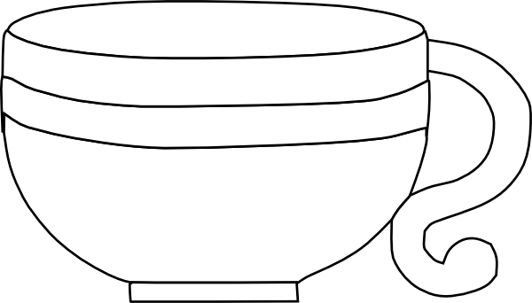 tea cup clipart black and white - photo #20