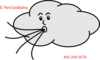 Cloud Blowing Wind Clip Art