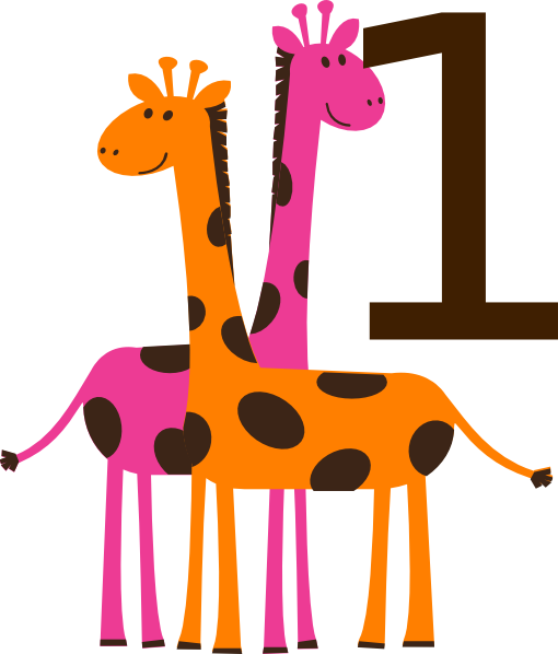 First Birthday Giraffes Clip Art At Clker
