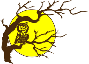 Owl And Moon Clip Art