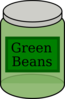 Green Beans Jar Clip Art