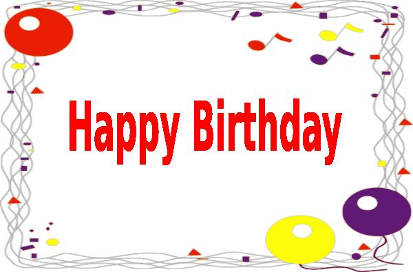 Happy Birthday Border Clip Art At Clker.com